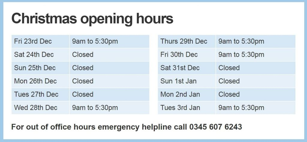 deacon-christmas-opening-hours