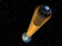 Futuristic space lift elevator nasa